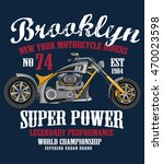 motorcycle t shirt graphic | Shutterstock .eps vector #470023598