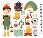 illustration of cute boy... | Shutterstock .eps vector #470030714