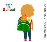 back to school. boy with... | Shutterstock .eps vector #470040164