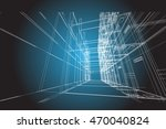 architecture abstract  3d... | Shutterstock . vector #470040824