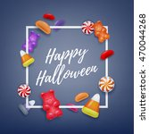 halloween sweets colorful party ... | Shutterstock .eps vector #470044268