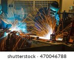 welder industrial automotive... | Shutterstock . vector #470046788