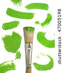 paint brush with color painting - stock photo