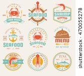 seafood colored restaurant... | Shutterstock .eps vector #470055278