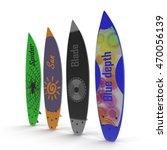 set of different color surf... | Shutterstock . vector #470056139