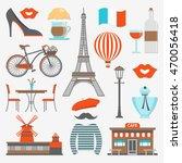 paris icon set distinctive... | Shutterstock .eps vector #470056418