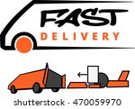 fast delivery icon on white...   Shutterstock .eps vector #470059970