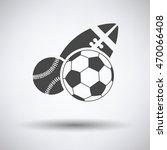sport balls icon on gray... | Shutterstock .eps vector #470066408