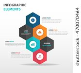 Abstract hexagon business Infographics elements, presentation template flat design vector illustration for web design marketing advertising | Shutterstock vector #470070464