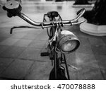 old classic bicycle  black and... | Shutterstock . vector #470078888