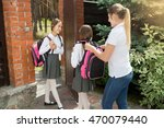 young mother seeing off her...   Shutterstock . vector #470079440
