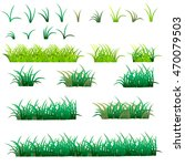 green grass set  isolated on... | Shutterstock .eps vector #470079503