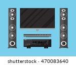 vector set of detailed home... | Shutterstock .eps vector #470083640