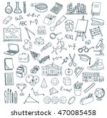 hand drawn school icons set.... | Shutterstock .eps vector #470085458