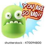 3d rendering sad character... | Shutterstock . vector #470094800