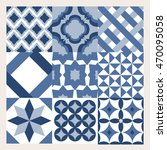 creative tile pattern  | Shutterstock .eps vector #470095058