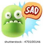 3d rendering sad character... | Shutterstock . vector #470100146