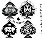 Sets  Ace Of Spades With Skull...