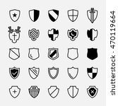 set of ancient shields with... | Shutterstock .eps vector #470119664