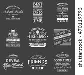 friendship. typography quotes. | Shutterstock .eps vector #470119793