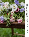 bunch of flowers with pink ... | Shutterstock . vector #470132054