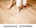 feet the first step mother and... | Shutterstock . vector #470150600