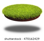 round cut piece of soil covered ... | Shutterstock . vector #470162429