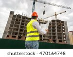 view from back on engineer... | Shutterstock . vector #470164748