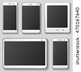 mobile device templates with... | Shutterstock .eps vector #470167640
