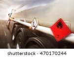 gasoline transporter speeding... | Shutterstock . vector #470170244
