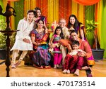 group photo of happy indian... | Shutterstock . vector #470173514
