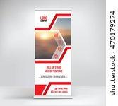 banner roll up design  business ... | Shutterstock .eps vector #470179274