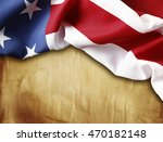 american flag on brown... | Shutterstock . vector #470182148