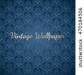 baroque blue colored seamless... | Shutterstock .eps vector #470184506