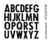 black ink alphabet on white... | Shutterstock .eps vector #470187938