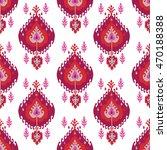 ikat fabric seamless pattern... | Shutterstock .eps vector #470188388
