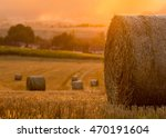 rural scene from harvest during ... | Shutterstock . vector #470191604