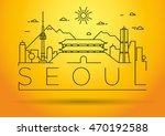 minimal vector seoul city... | Shutterstock .eps vector #470192588