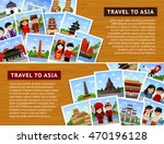 travel to asian countries.... | Shutterstock .eps vector #470196128