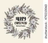merry christmas and happy new... | Shutterstock .eps vector #470210060