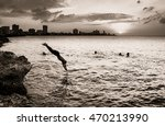 silhouette of the city of...   Shutterstock . vector #470213990