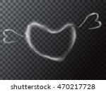 heart smoke. abstract... | Shutterstock .eps vector #470217728
