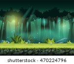 vector horizontal seamless... | Shutterstock .eps vector #470224796