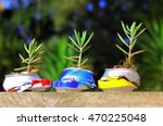 recycled can concept. three... | Shutterstock . vector #470225048