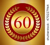 vector illustration of 60th... | Shutterstock .eps vector #470227964