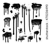 ink drops. grunge paint. design ... | Shutterstock .eps vector #470236490