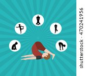 yoga concept with icon design ...   Shutterstock .eps vector #470241956