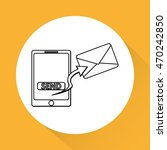 sms concept with icon design ... | Shutterstock .eps vector #470242850