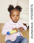 little cute sweet african... | Shutterstock . vector #470258576