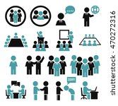 human office icon set | Shutterstock .eps vector #470272316